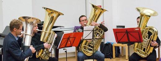 Tubaquartett der Musikschule