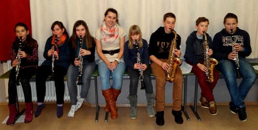 Von links nach rechts: Viktoria Grießbauer, Paulina Sandner, Sarah Reitbauer, Mag. klose, Anja Pomberger, Philipp Gassner, Tobias Sommerer, Dominik Büchinger;
