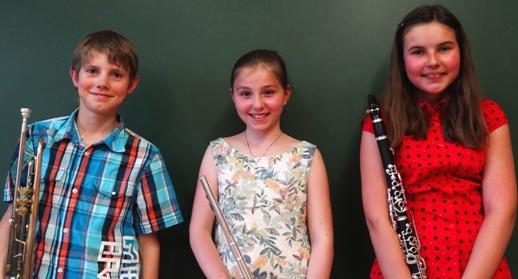 Bronzeabzeichen: Christian Schuster, Anna-Sophie Baumgartner, Sarah Reitbauer