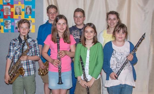 Von links nach rechts: Tobias Sommerer, Philipp Gassner, Sarah Reitbauer, Dominik Büchinger, Viktoria Grießbauer, Mag. Klose, Paulina Sandner;